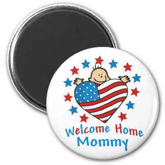 Welcome Home Mommy Baby Heart 6 Cm Round Magnet