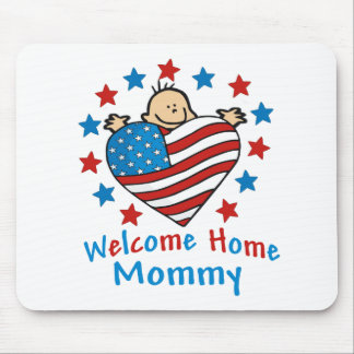 Welcome Home Mommy Baby Heart Mouse Mats