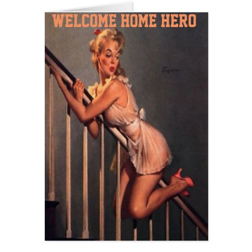 WELCOME HOME MY HERO GREETING CARDS - U.S. TROOPS