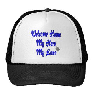 Welcome home my Hero my Love Mesh Hats