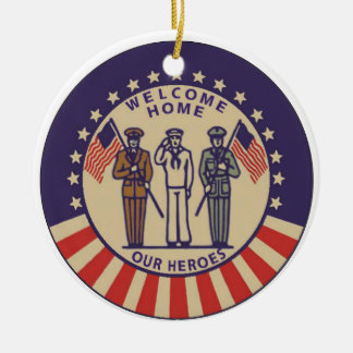 Welcome Home Our Heros Ornament