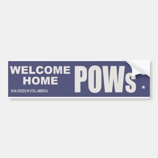 Welcome Home POWs Vietnam Bumper Sticker 1973