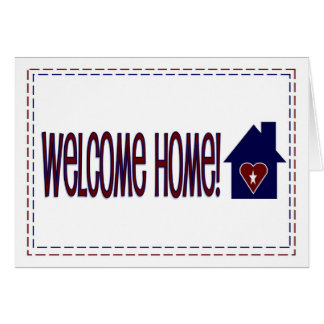 Welcome Home! - Red, White & Blue Card
