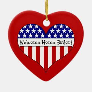 Welcome Home Sailor! Ceramic Heart Decoration