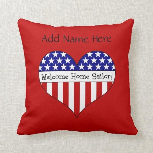 Welcome Home Sailor! Pillows