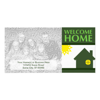 welcome home (shapes) customized photo card