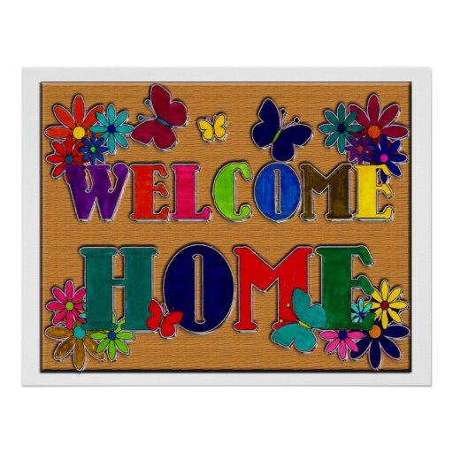 Printable Welcome Home Sign: Welcome Home Sign Print