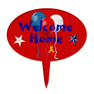 Welcome Home Soldier Cake Topper