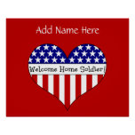 Welcome Home Soldier! (Customisable Name) Poster