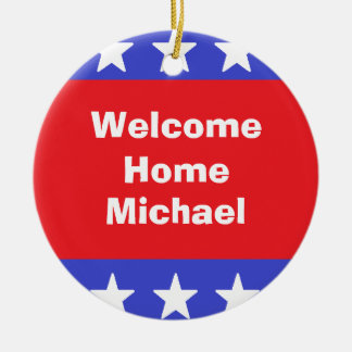 """Welcome Home Soldier""  Ornament"