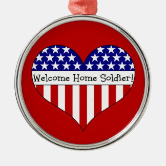 Welcome home christmas tree decorations baubles zazzle for Welcome home soldier decorations