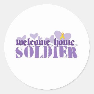 Welcome Home Soldier Round Sticker