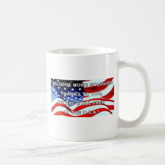 WELCOME HOME SOLDIERS BASIC WHITE MUG