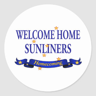 Welcome Home Sunliners Round Sticker