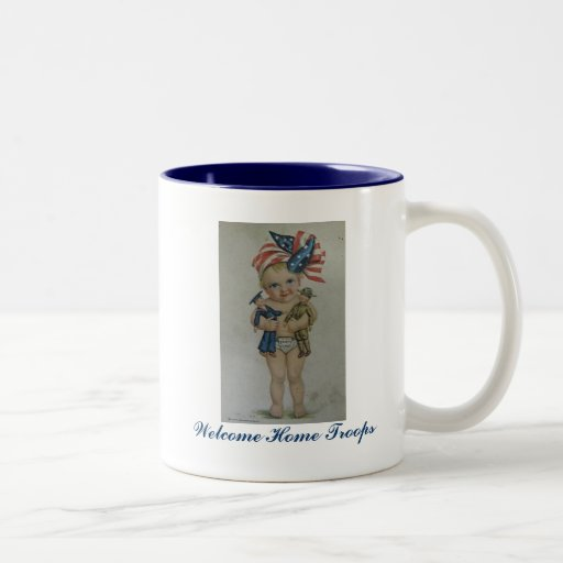 Welcome Home Troops customizable coffe mug cup