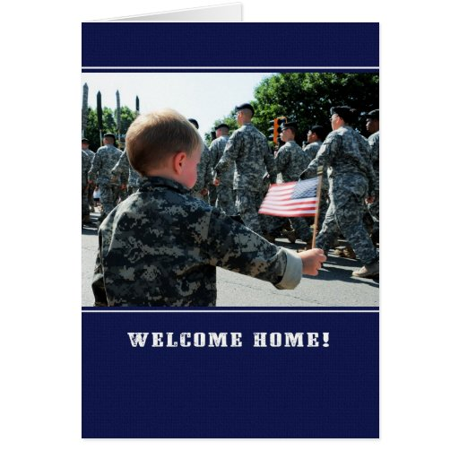 Welcome Home Troops! Customizable Greeting Card