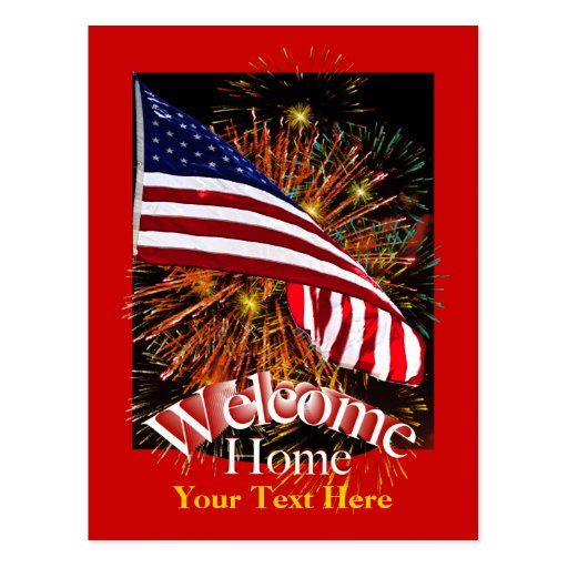 Welcome Home Troops Postcard