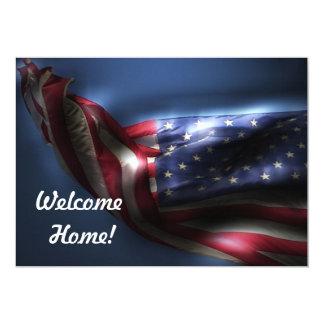 Welcome Home Troops!-U.S. Flag Invite