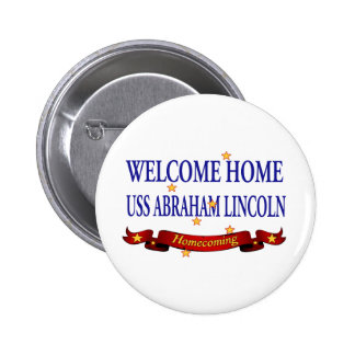 Welcome Home USS Abraham Lincoln 6 Cm Round Badge