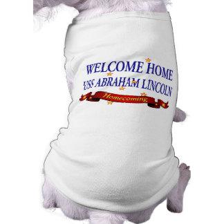 Welcome Home USS Abraham Lincoln Sleeveless Dog Shirt