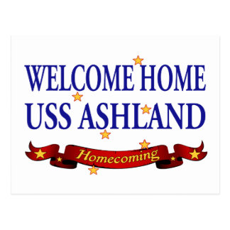 Welcome Home USS Ashland Postcard