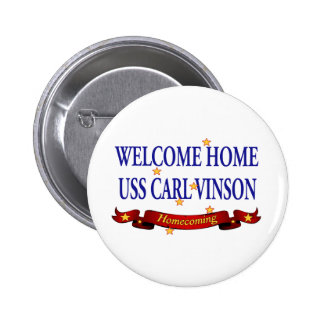 Welcome Home USS Carl Vinson 6 Cm Round Badge
