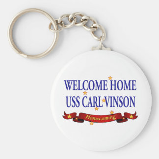 Welcome Home USS Carl Vinson Basic Round Button Key Ring