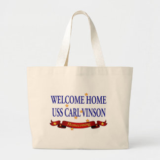Welcome Home USS Carl Vinson Jumbo Tote Bag