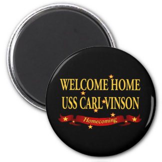 Welcome Home USS Carl Vinson 6 Cm Round Magnet