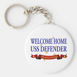 Welcome Home USS Defender Key Chains