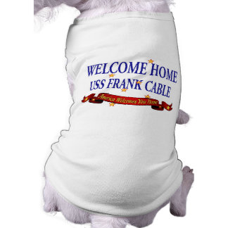 Welcome Home USS Frank Cable Sleeveless Dog Shirt