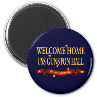 Welcome Home USS Gunston Hall 6 Cm Round Magnet