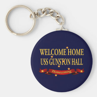 Welcome Home USS Gunston Hall Basic Round Button Key Ring
