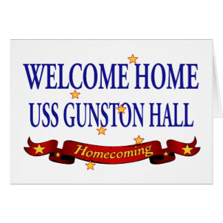 Welcome Home USS Gunston Hall Greeting Card