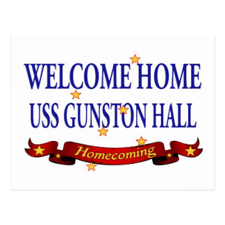 Welcome Home USS Gunston Hall Postcard