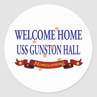 Welcome Home USS Gunston Hall Round Sticker