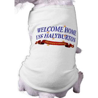Welcome Home USS Halyburton Sleeveless Dog Shirt