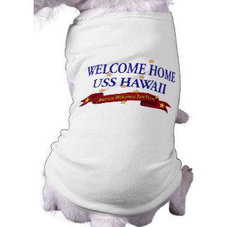 Welcome Home USS Hawaii Sleeveless Dog Shirt