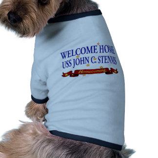 Welcome Home USS John C. Stennis Ringer Dog Shirt