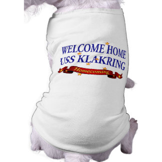 Welcome Home USS Klakring Sleeveless Dog Shirt