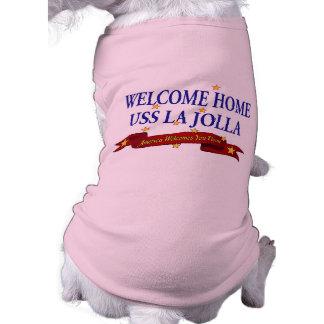 Welcome Home USS La Jolla Sleeveless Dog Shirt