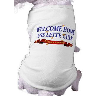 Welcome Home USS Leyte Gulf Sleeveless Dog Shirt