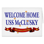 Welcome Home USS McClusky Greeting Cards