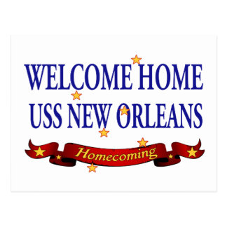 Welcome Home USS New Orleans Postcard