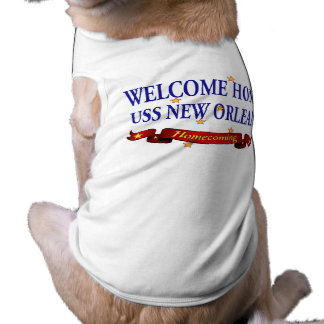 Welcome Home USS New Orleans Sleeveless Dog Shirt