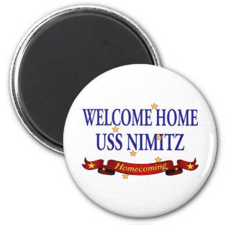 Welcome Home USS Nimitz 6 Cm Round Magnet