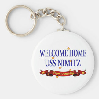 Welcome Home USS Nimitz Basic Round Button Key Ring