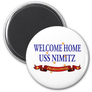 Welcome Home USS Nimitz Fridge Magnet