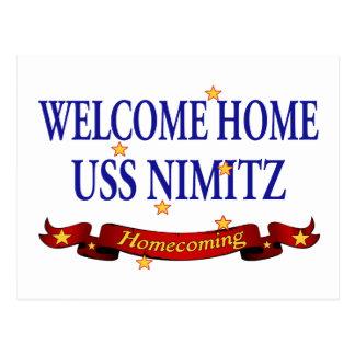 Welcome Home USS Nimitz Postcard