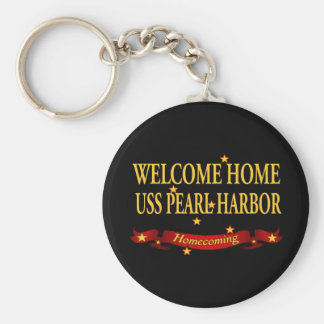 Welcome Home USS Pearl Harbor Basic Round Button Key Ring